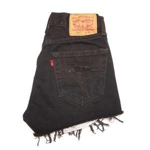 LEVI'S 505 High Rise Cut Off Shorts Size 29